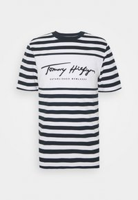 Tommy Hilfiger - SIGNATURE STRIPE RELAXED FIT TEE - Print T-shirt - blue - 3