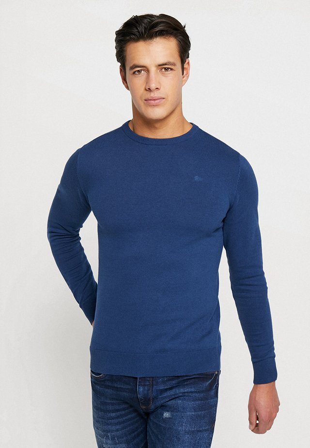 RUNDHALS - Pullover - petrol blue