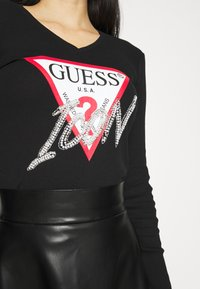 Guess - ICON TEE - Long sleeved top - jet black - 5