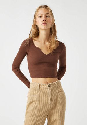 Long sleeved top - dark brown