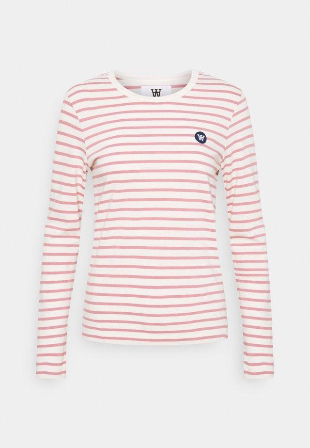 MOA LONG SLEEVE - Langærmede T-shirts - off-white/rose