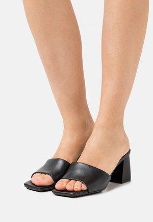 VELALITH - Heeled mules - black