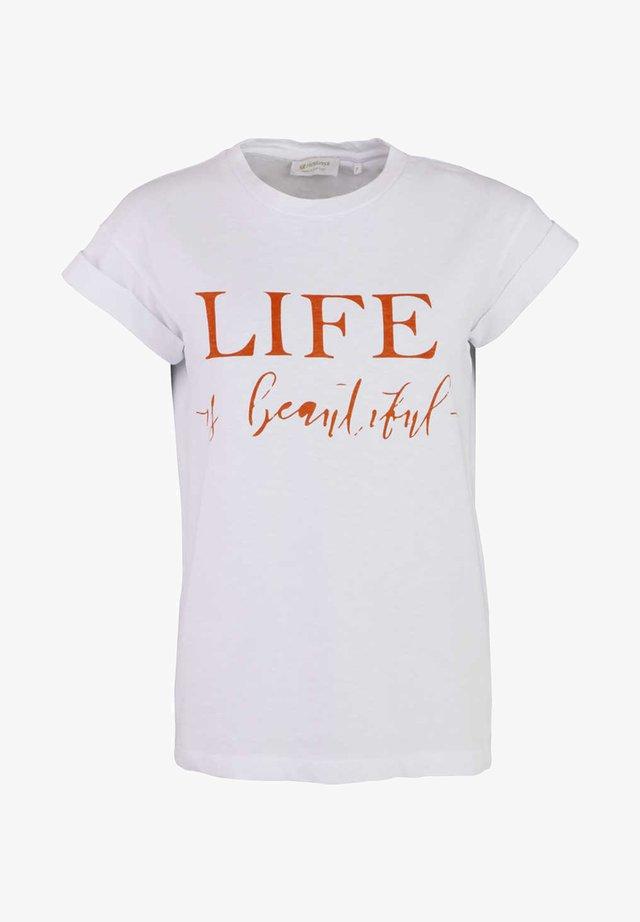 UMSCHLAG SCHRIFT - Print T-shirt - weiß