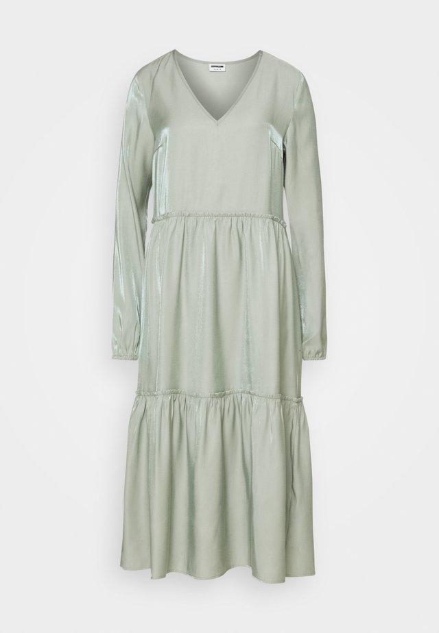 NMCORA DRESS - Day dress - slate gray