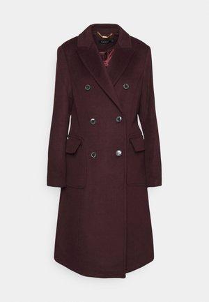 LINED COAT - Classic coat - pinot noir
