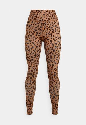 LEOPARD - Leggings - brown