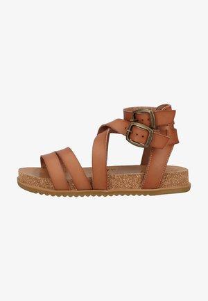 Platform sandals - arabian sand dyecut 398