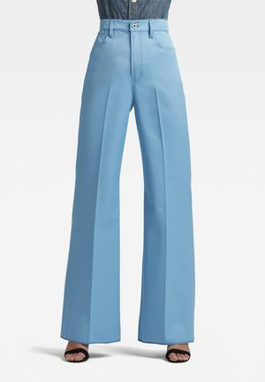 WIDE LEG - Trousers - delta blue