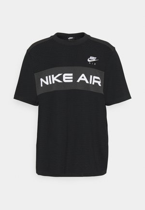 Print T-shirt - black/dk smoke grey/(white)