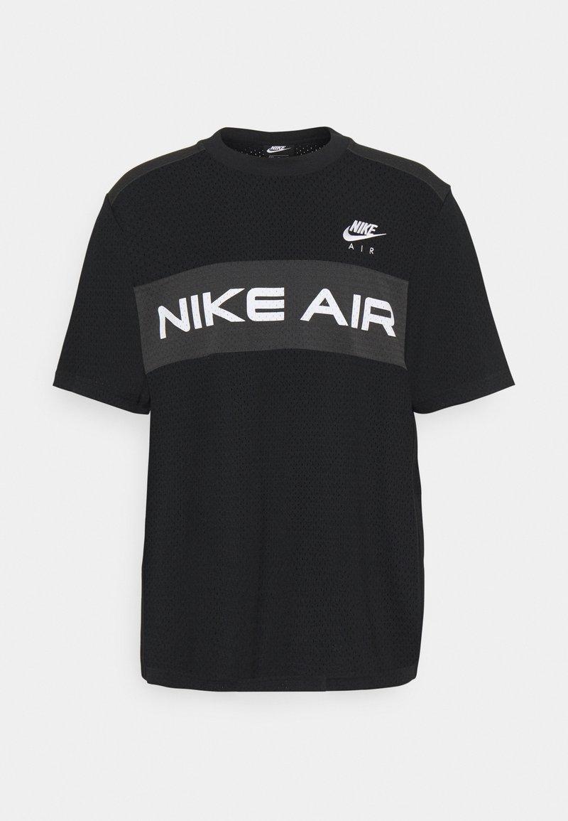 Nike Sportswear - T-shirt med print - black/dk smoke grey/(white)