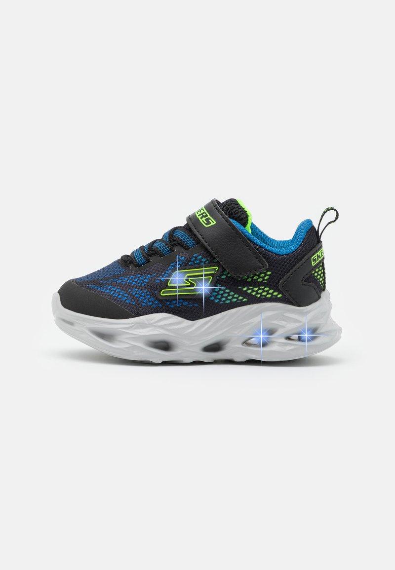 Skechers - VORTEX FLASH - Trainers - black/blue/lime