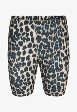 Shorts - black leo aop