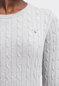GANT - CABLE CREW - Pullover - light grey melange - 4