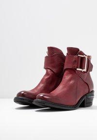 A.S.98 - Cowboy/biker ankle boot - cardinal - 4