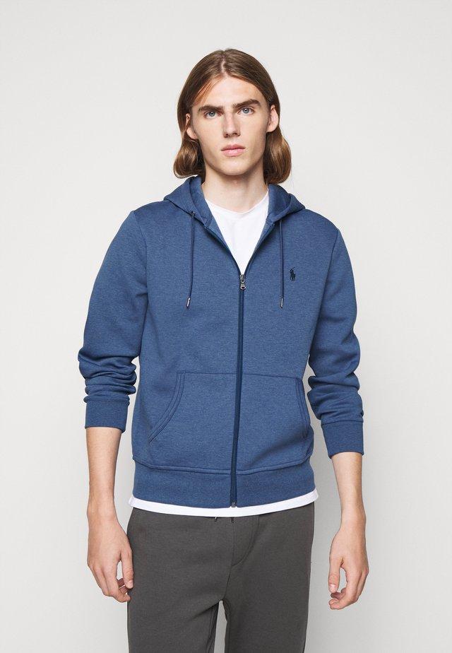 DOUBLE TECH - veste en sweat zippée - derby blue heather
