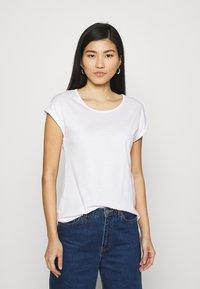 Anna Field - 3 PACK - T-shirts - black/white/khaki - 1