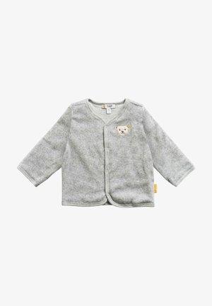Zip-up sweatshirt - soft grey melange