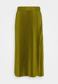 PLEATED MIDI LENGTH SKIRT - Maxi skirt - military