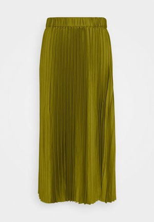 PLEATED MIDI LENGTH SKIRT - Maxiskjørt - military