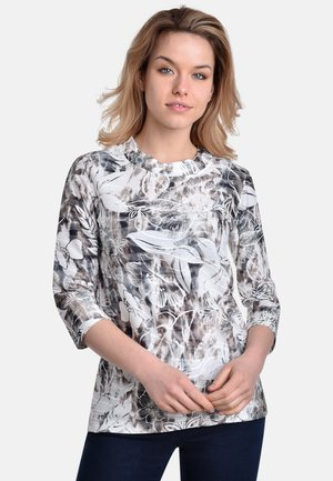 T-shirt med print - silver-sand