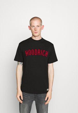 DRIP - Print T-shirt - black/red