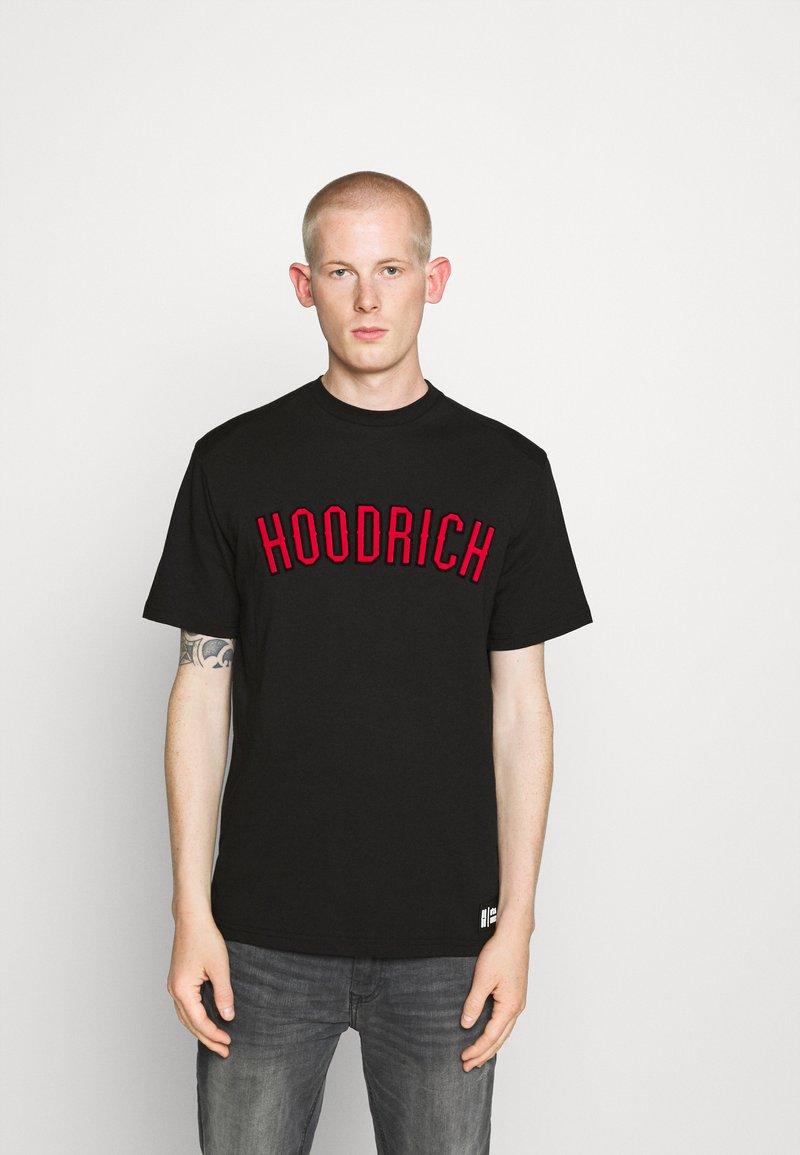 Hoodrich - DRIP - Print T-shirt - black/red