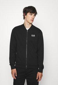 EA7 Emporio Armani - Zip-up sweatshirt - black - 0