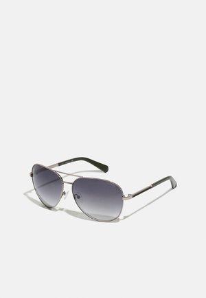 UNISEX - Sluneční brýle - shiny light nickeltin/green mirror