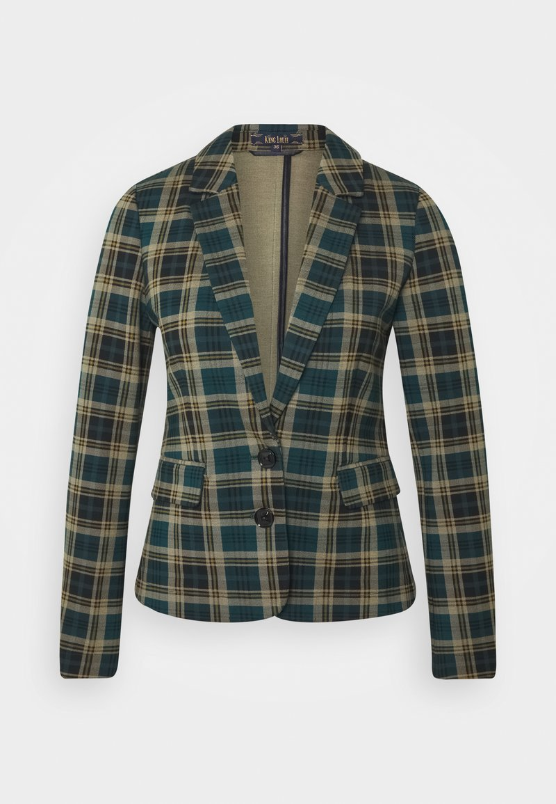 King Louie - DAISY RODEO CHECK - Blazer - dragonfly green