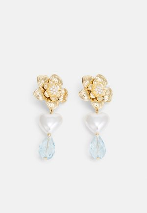 FLOWER DROP - Earrings - gold-coloured