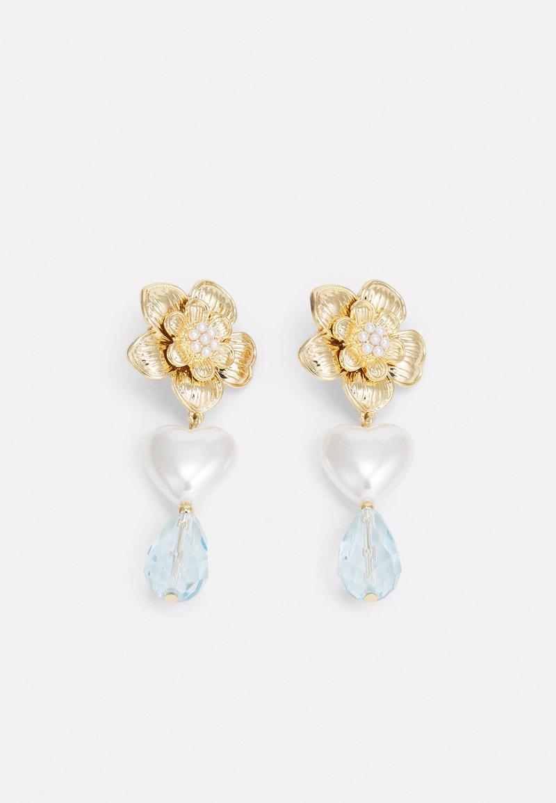Topshop - FLOWER DROP - Earrings - gold-coloured