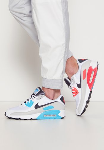 AIR MAX 90 - Sneakers - white/iron grey/chlorine blue