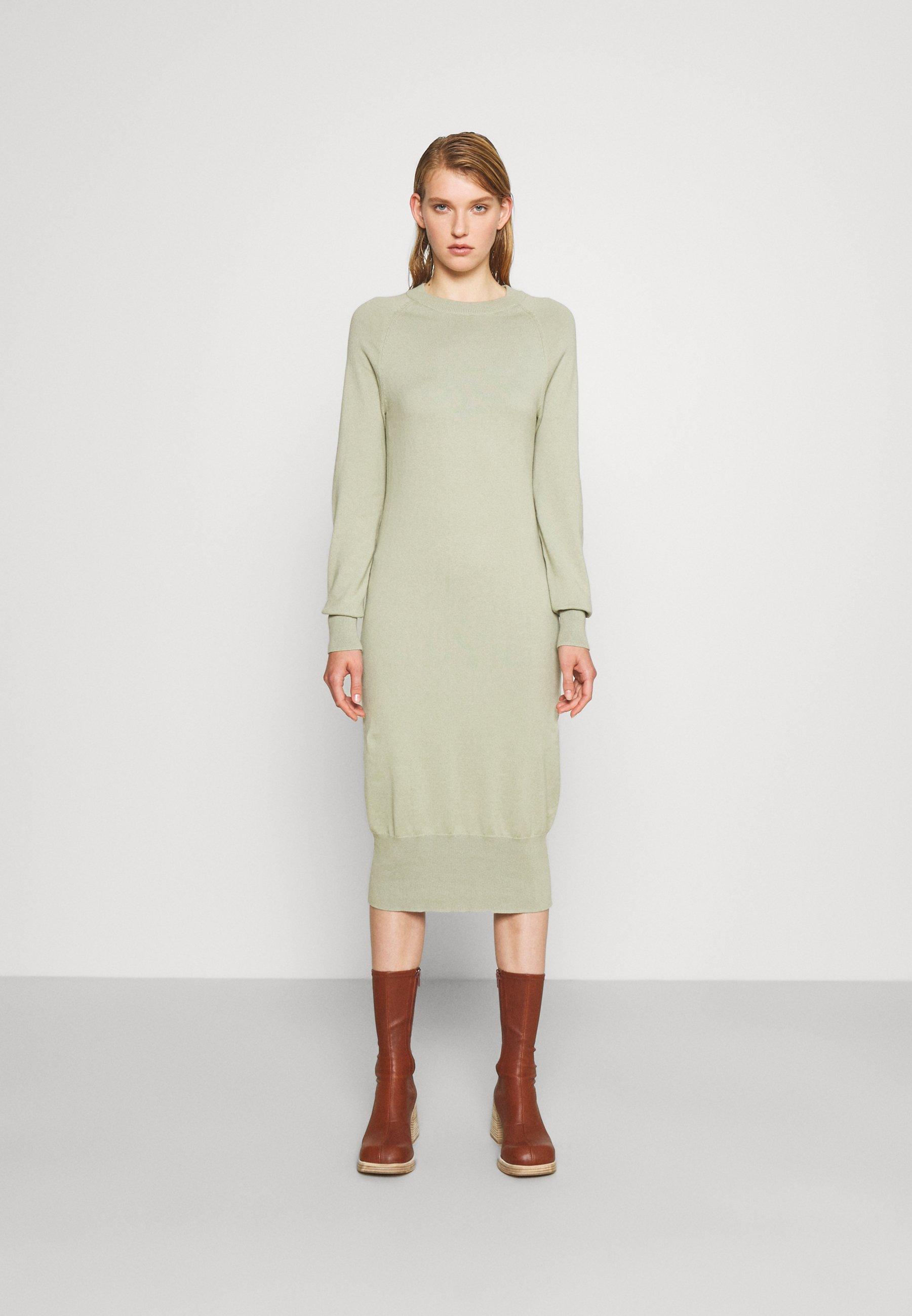 Women ROUND NECK DRESS - Jumper dress