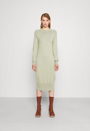 ROUND NECK DRESS - Gebreide jurk - light green