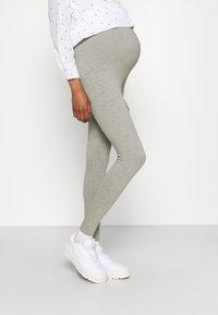 Missguided Maternity - BASIC 2 PPACK - Leggings - Trousers - black/grey marl - 3