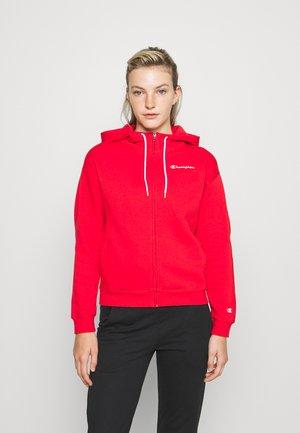HOODED FULL ZIP - Zip-up sweatshirt - red