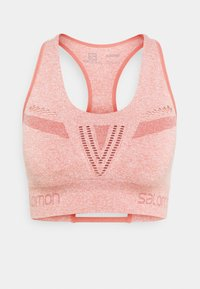 Salomon - ELEVATE MOVE ON BRA  - Reggiseno sportivo con sostegno medio - brick dust - 0