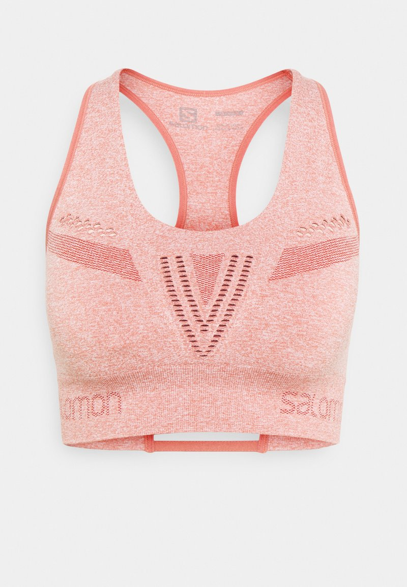Salomon - ELEVATE MOVE ON BRA  - Reggiseno sportivo con sostegno medio - brick dust