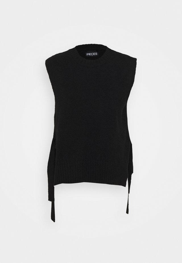 PCALICE - Stickad tröja - black