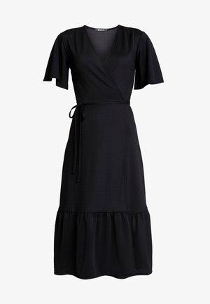 CARI MIDI WRAP DRESS - Maxi šaty - black