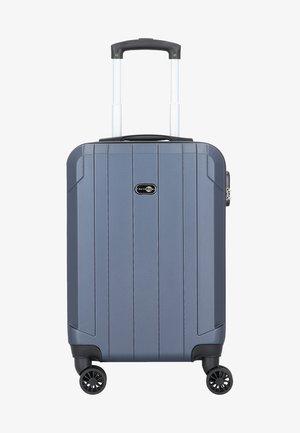 MIT DOPPELROLLEN - Wheeled suitcase - blue