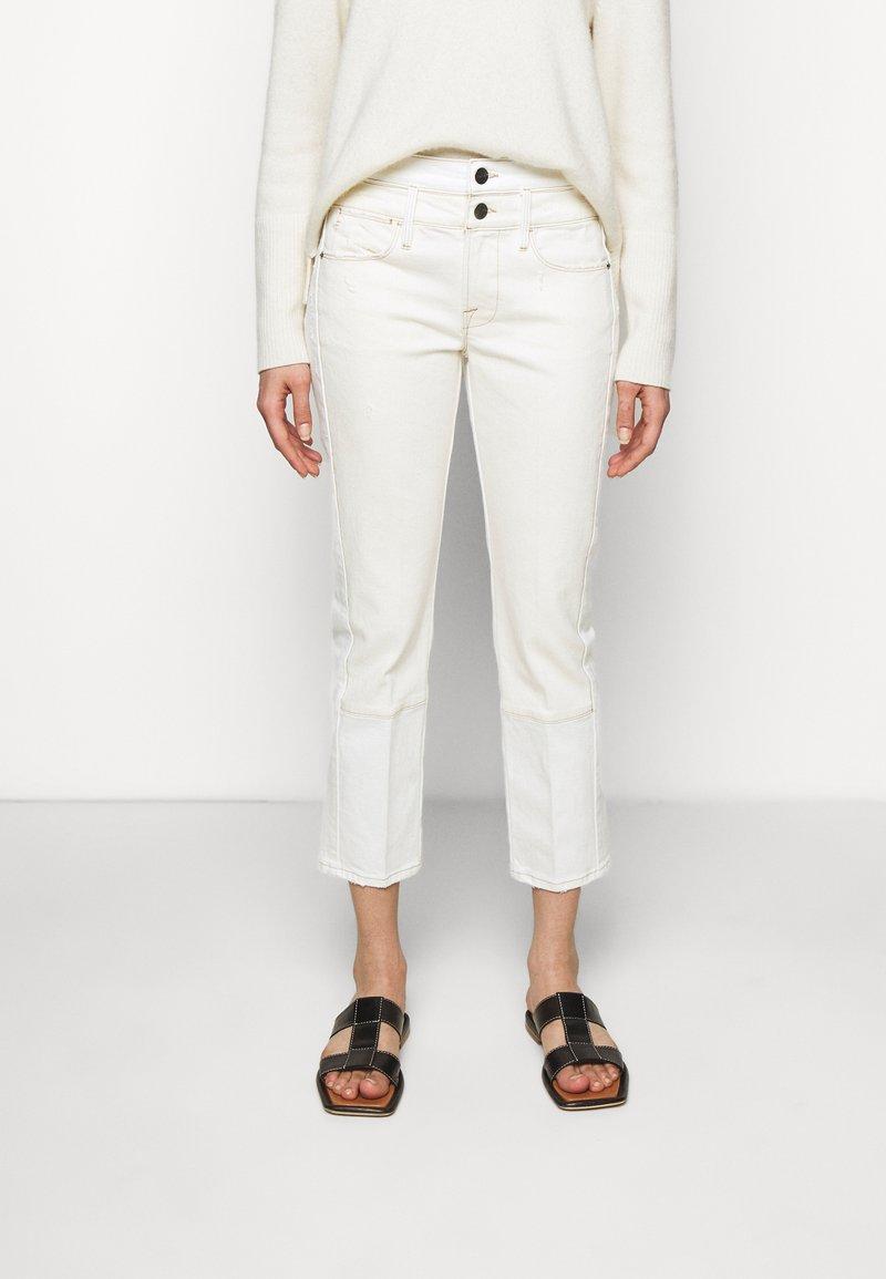 Frame Denim - LE HIGH STRAIGHT SPRING MIX - Straight leg jeans - vintage white multi