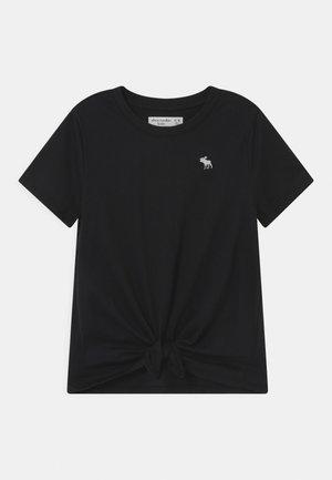 TIE FRONT  - T-Shirt print - black