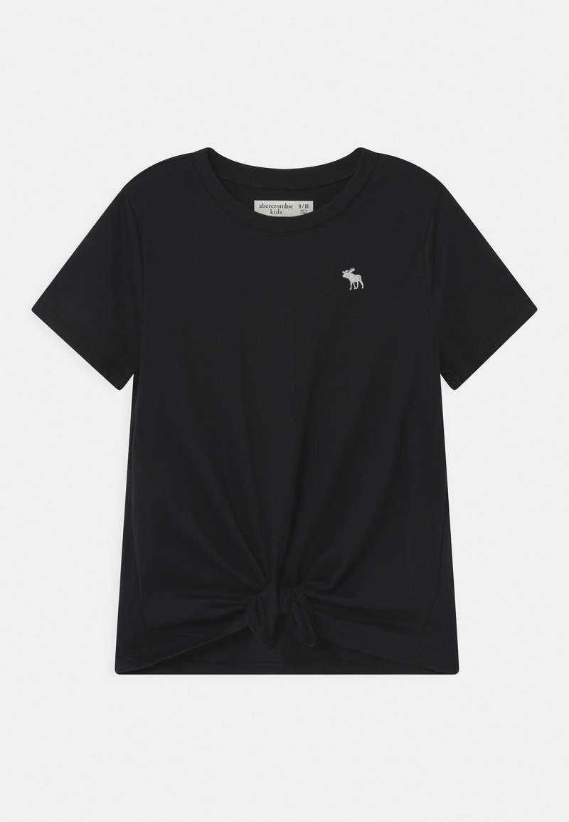 Abercrombie & Fitch - TIE FRONT  - Print T-shirt - black