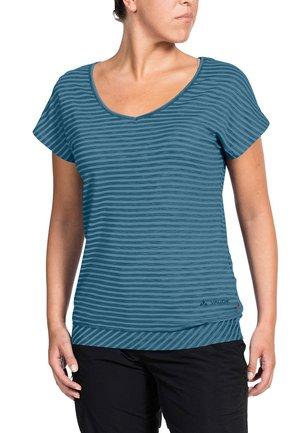 SKOMER - Print T-shirt - blue gray
