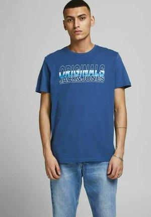 CREW NECK - Print T-shirt - ensign blue