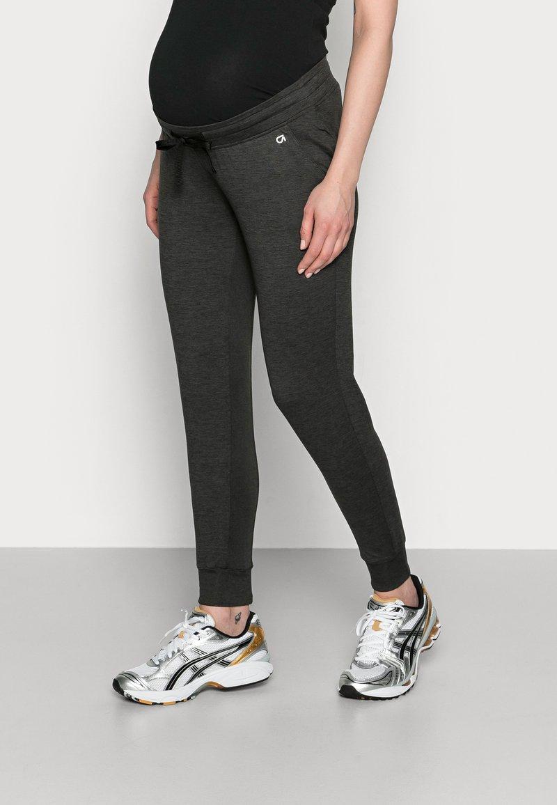 GAP Maternity - UNDERBELLY MIX - Teplákové kalhoty - true black