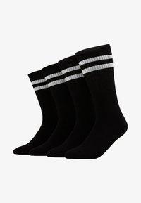 Topman - 4 PACK TUBE SOCKS  - Socks - black - 1