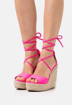 MAREA - High heeled sandals - pink
