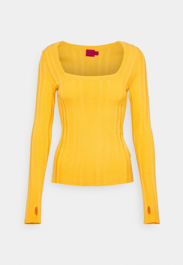 STEFFANY - Strickpullover - bright yellow
